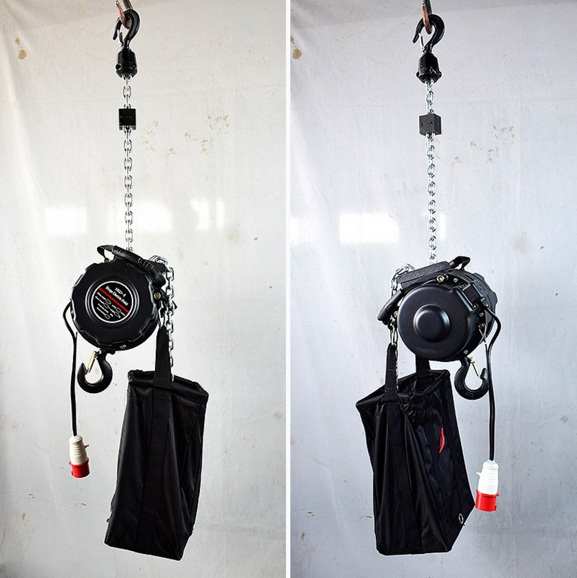 Upside Down Stage Gourd 0.5 T/1 T/2t Tons 10M M Self-Climbing Stage Chain Hoist Electric Lifting Gourd