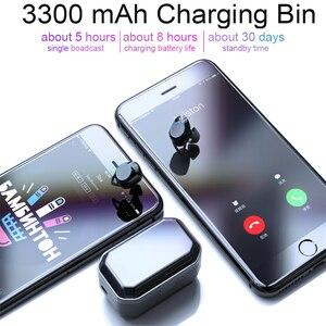 Image 5 - TWS 5.0 Bluetooth 9D słuchawki stereo bezprzewodowe słuchawki IPX7 słuchawki wodoodporne 3300mAh LED inteligentny power bank uchwyt na telefon