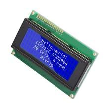 Écran LCD 2004 20x4 5V, avec rétroéclairage bleu, pour arduino, IIC/I2C