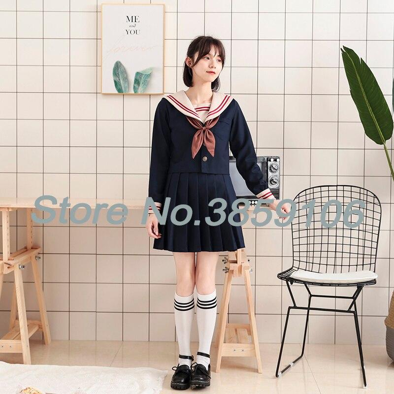 UPHYD Japanese School Uniform Cosplay Costume Anime Japanese Style Uniform For Girl Cute Sailor Suit Student School Uniform