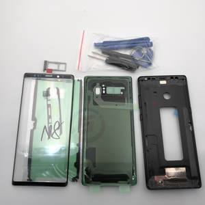 Image 2 - Full Housing Case Back Battery Cover Front Screen Glass Lens  Middle Frame For Samsung Galaxy Note 8 N950 N950F Parts note8
