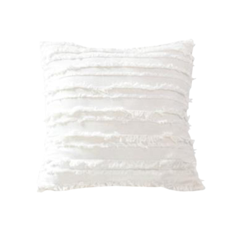 HOT Cushion Cover Floral Tassels Square Pillow Case Cotton Pillow Cover Home Decoration Sofa 45X45Cm  White Pillow Case Home & Garden - title=