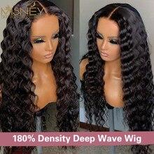 38 polegada profunda onda peruca 13x6x1 t perucas de cabelo humano frontal do laço para as mulheres hd pré arrancado descorado nós profunda encaracolado fechamento do laço perucas