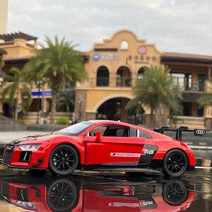 1:32 AUDI R8 LMS гоночный автомобиль, модель автомобиля из сплава, литой и игрушечный автомобиль, модель автомобиля, миниатюрная модель масштаба, спортивный автомобиль, игрушки для детей|Наземный транспорт|   | АлиЭкспресс