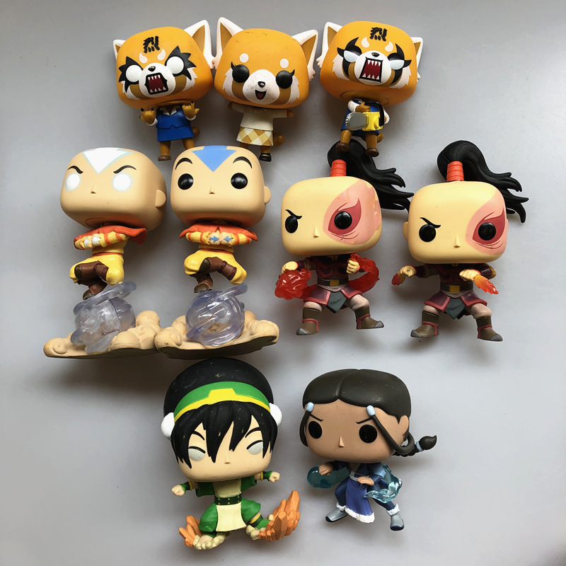 Exclusive Original Funko Pop Avatar: The Last Airbender Aggretsuko Vinyl Action Figure Collectible Model Loose Toy No Box