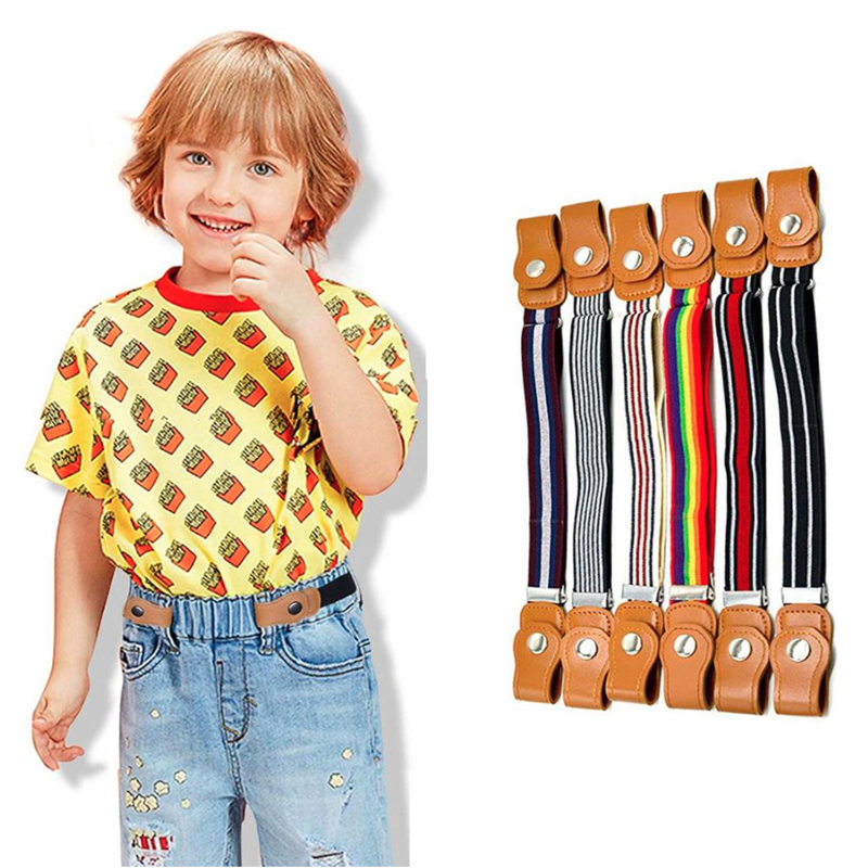 2020 Kids Belts Girls Boys Easybelt Elastic Belt Without Buckle Riem Zonder Gesp Vrije Stretch Fashion Ceinture Enfant Easy Belt