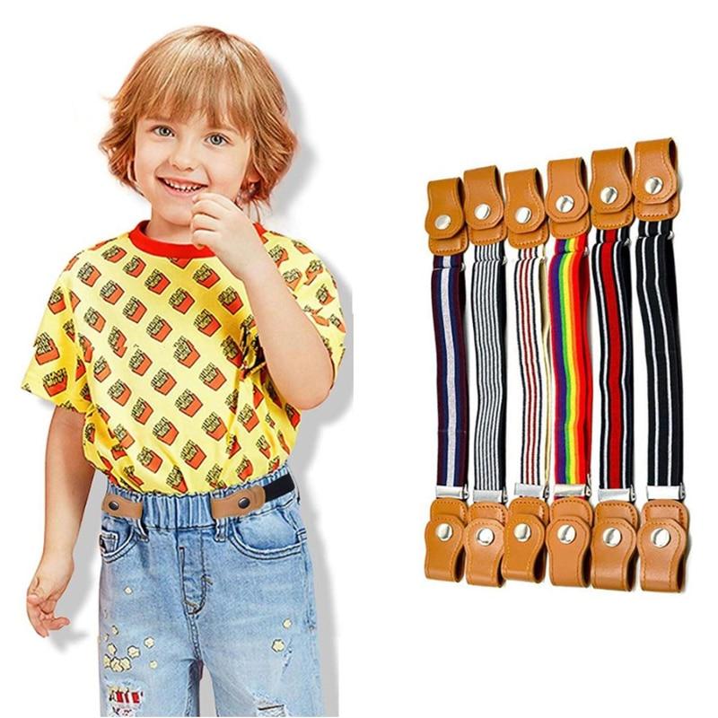 2020 Kids Belts Girls Boys Easybelt Elastic Belt Without Buckle Riem Zonder Gesp Vrije Stretch Fashion Ceinture Enfant Easy Belt