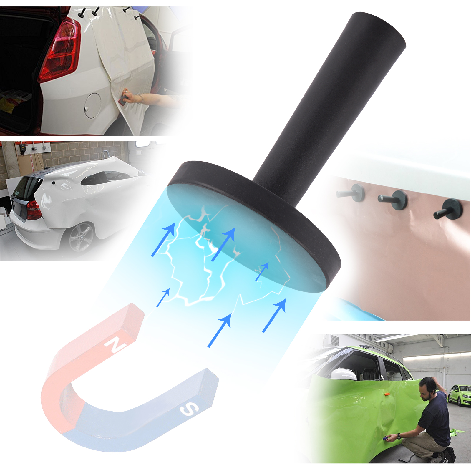 Image 5 - FOSHIO Car Vinyl Wrap Film Squeegee Scraper Tools Set Carbon Fiber Magnet Holders Car Sticker Cutter Knife Kit Car Accessories-in Scraper from Automobiles & Motorcycles