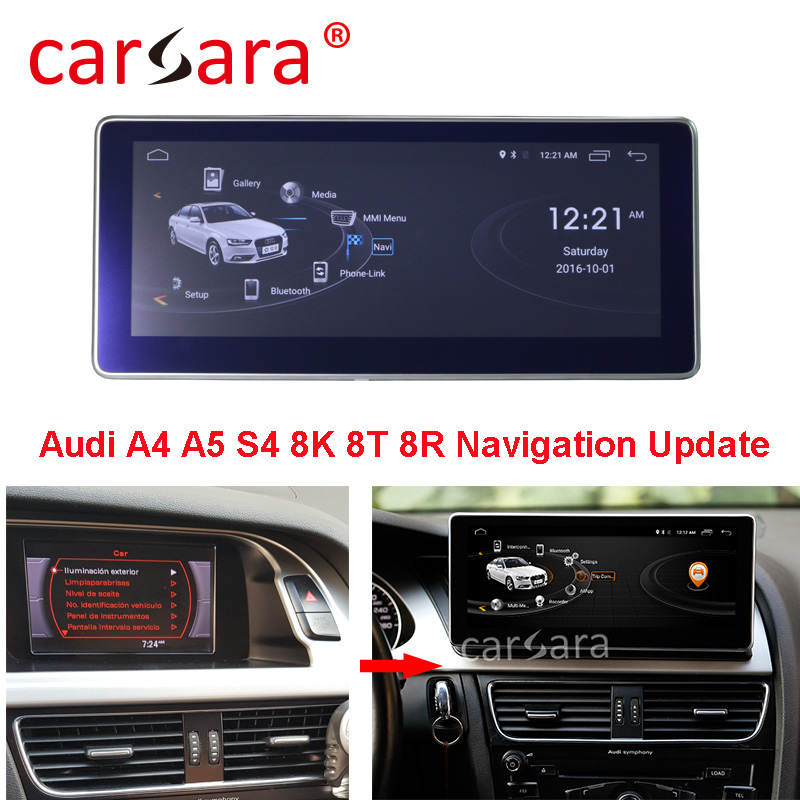 Au di A4 A5 2009-2016 Head Unit DVD Player Car Radio System Touch Screen Android 2G RAM Navigation Monitor image