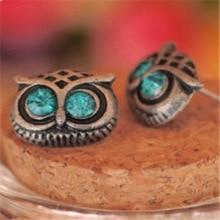 European and American Creative Pop Vintage Sweet Owl Earrings Crystal Jewelry Factory Direct Sales