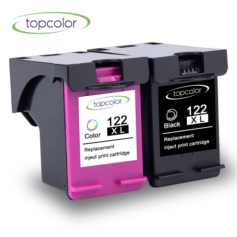 Topcolor Black Ink Cartridge 122XL Fit for <font><b>HP</b></font> <font><b>122</b></font> XL hp122 CH563H CH564H Ink Box for <font><b>HP</b></font> Printer 5531 5532 5534 3512 3516 4639 image
