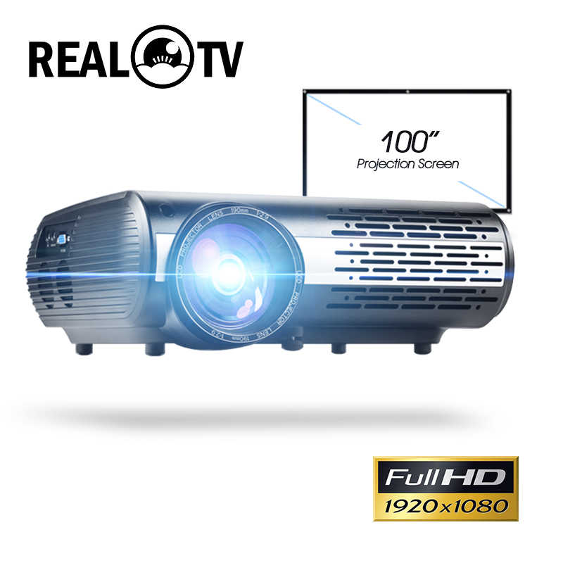 Proyector LED de TV Real serie M2 Full HD 1080P, Proyector de Casa opcional, con Android, WiFi, HDMI, USB, AV, vídeo Bluetooth