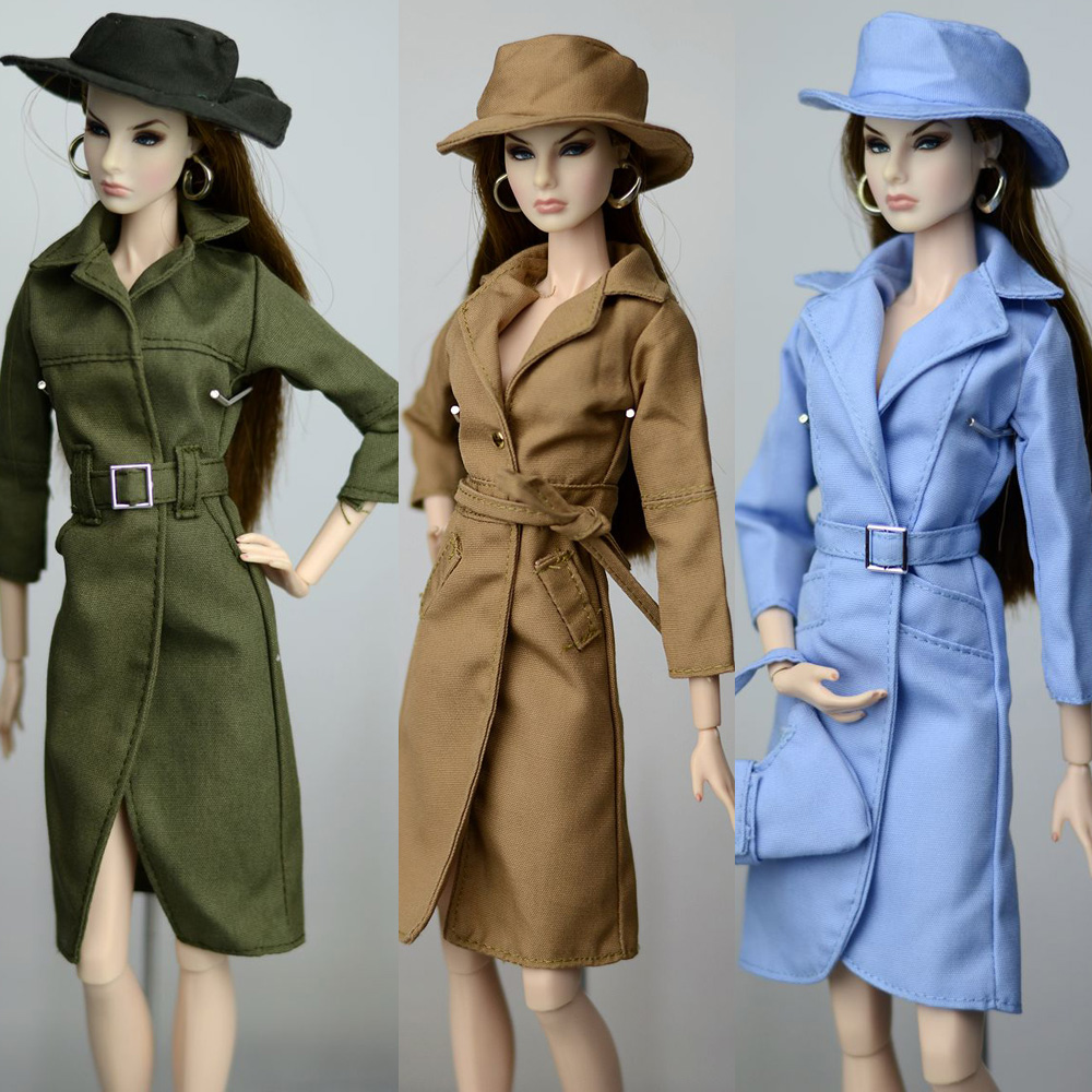 2018 New Long Duck Wind Cost Hat Set Winter Wear Christmas Suit Outfit Clothing Clothes For 1/6 BJD Xinyi Barbie FR ST Doll Gift