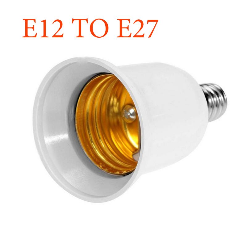 Premium <font><b>E12</b></font> To E27 Base LED Light Adapter Converter Screw <font><b>Socket</b></font> LED CFL Light Bulb Lamp Adapter UK STOCK Holder Base image