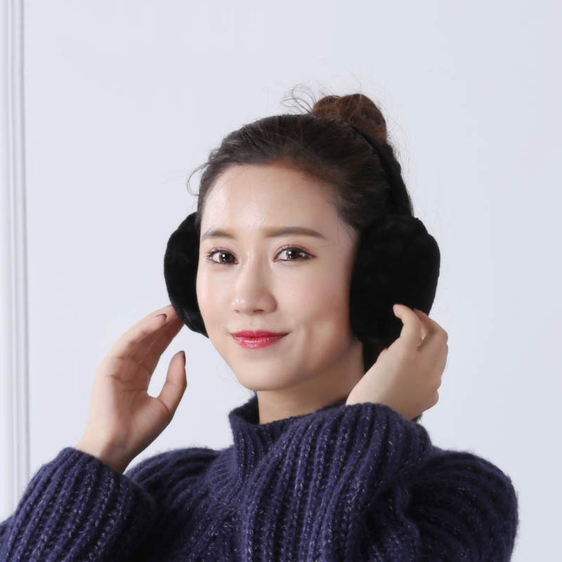 New Arrival Earmuffs Plush Warm Foldable Christmas Gifts Solid Color Ear Warmers For Winter
