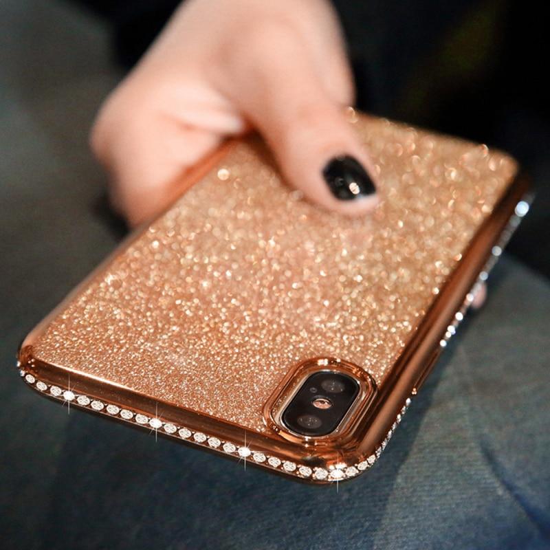 Shiny Bling Diamond Glitter Phone Protective Shell Back Cover for Samsung Models 5