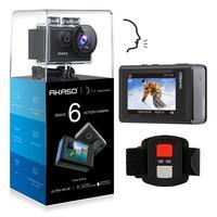 Brave 6 AKASO WiFi Action Camera 4K 20MP Voice Control EIS 30m Waterproof Camera Remote Control Video Recording Camera Sport Cam