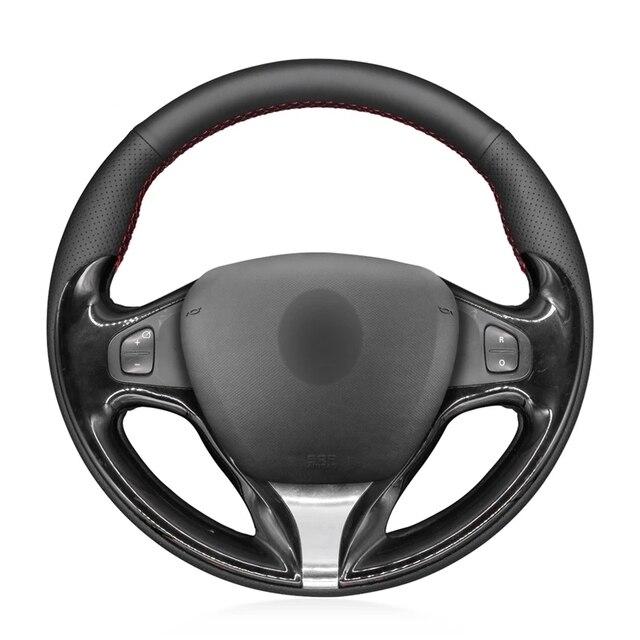 יד תפור שחור PU דמוי עור רכב הגה כיסוי עבור רנו קליאו 4 2012 2016 Captur רנו סמסונג QM3 2013