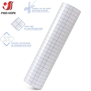 Clear Vinyl Application Tape w/Blue Alignment Grid for Car Wall Craft Art Decal Transfer Paper Adhesive DIY 30cm*100cm - discount item  19% OFF Arts,Crafts & Sewing