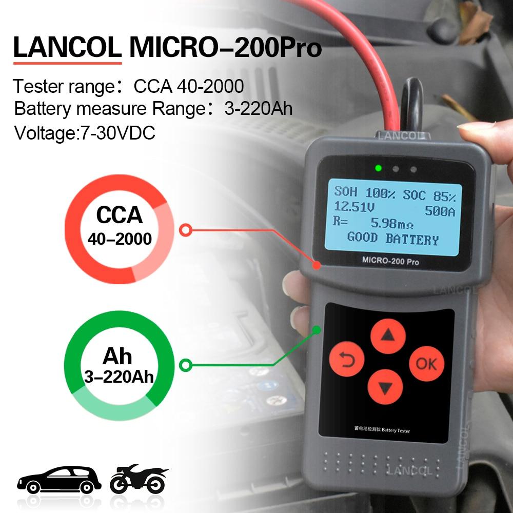 Top SaleCar-Battery-Tester Charging-Diagnostic 12-Volt Pro for The-Car Quick-Cranking Micro200
