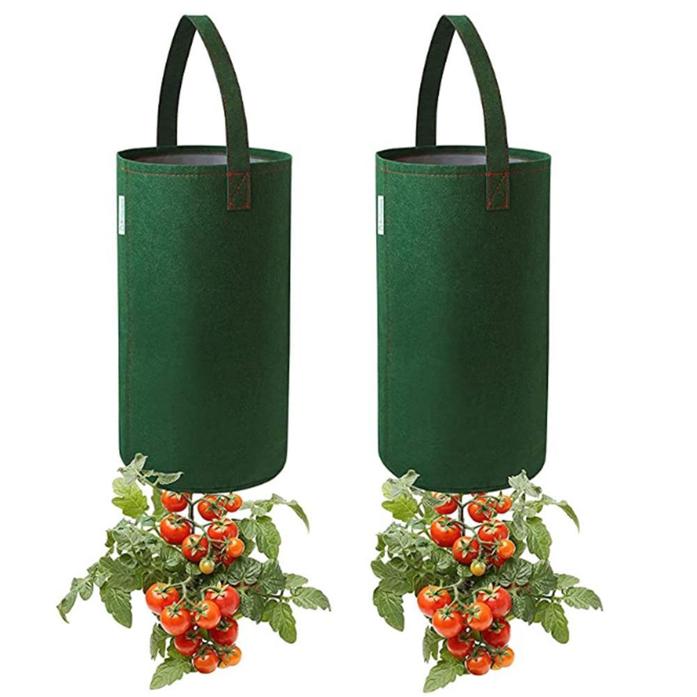 2Pcs New Garden Plant Grow Bag Vegetable Hanging Flower Pot Planter For Tomato Chili Pepper Growing Home Garden Supplies
