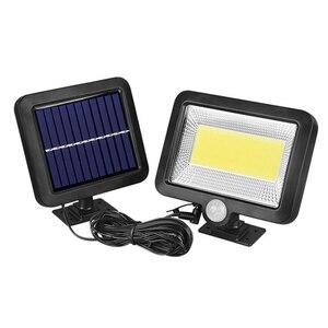 100COB Solar Energy Wall Mounted Night solar garden light Motion Light Sensor Outdoor Waterproof solar Garden Security Light(China)