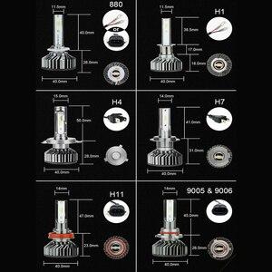 Image 5 - Zdatt H7 LED H4 H1 H11 9005 9006 سيارة المصابيح الأمامية 12000LM 6000K 12V المركبات السيارات الضباب أضواء HB3 HB4 مصابيح مروحة تربو