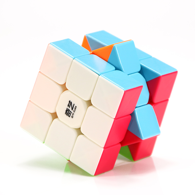 QiYi Warrior W 3x3x3 Profissional Magic Cube Competition Speed Puzzle Cubes Toys For Children Kids Cube Game-specific 6 Colors