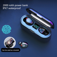 F9 Tws Wireless Bluetooth Earphones IPX7 Waterproof Stereo Earphone Earbuds Spor