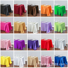 1pcs Rectangle Satin Tablecloth Table Overlays Wedding Decoration Banquet Dining Table Cover New Year Christmas Table Cloth