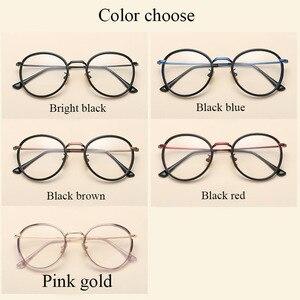 Image 3 - BCLEAR Alloy TR90 Glasses Frame Men Ultralight Women Vintage Round Prescription Eyeglasses Retro Optical Frame Eyewear 2019 New