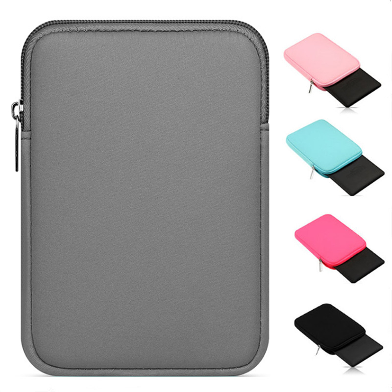 Universal Soft Tablet Liner Sleeve Pouch Bag For Kindle Case For IPad Mini 1/2/3/4 Air 1/2 Pro 9.7 Cover For New IPad 2017/2018