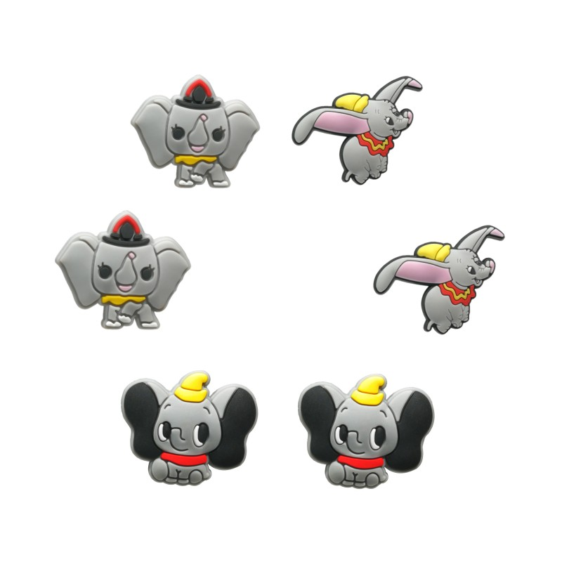 1pcs/1Set Lovely Dumbo PVC Shoe Charms Buckles Shoes Accessories Decorations Ornaments Fit For Croc JIBZ Shoes Bands Party Gift