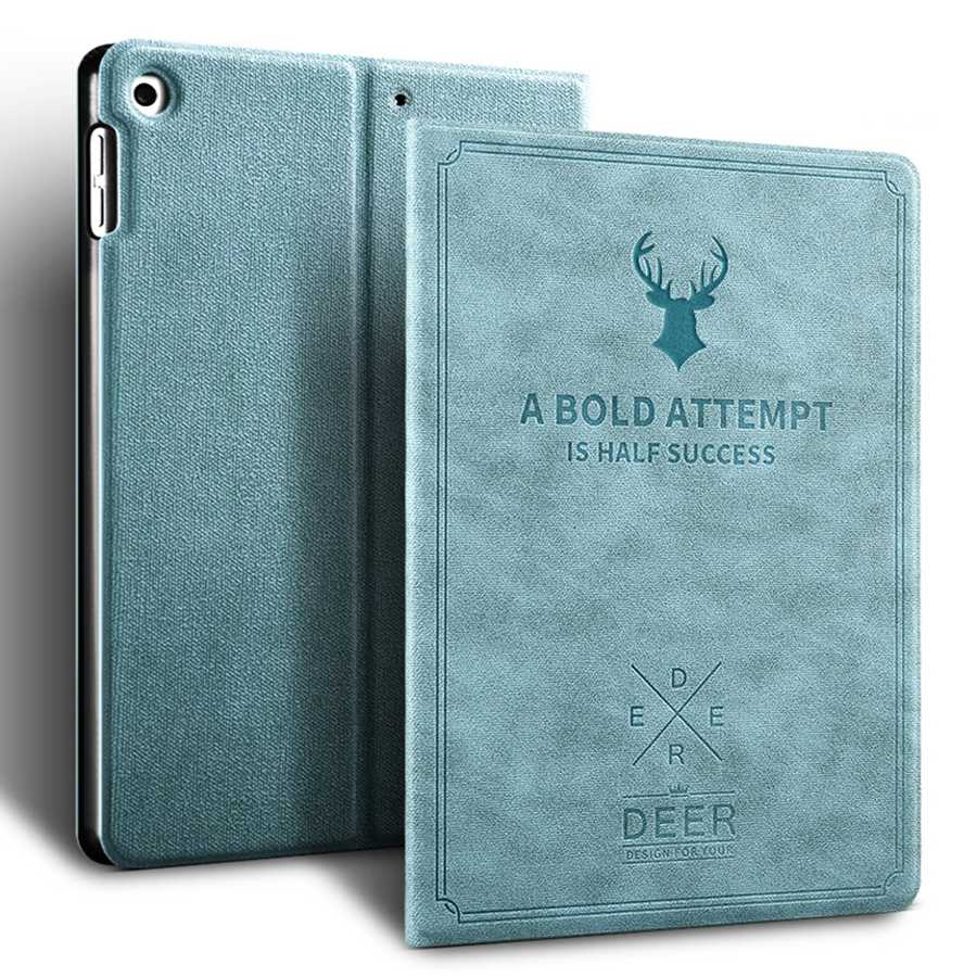 blue Purple Deer Pattern PU Leather Case For Apple iPad 10 2 2019 Smart Stand Cover For iPad