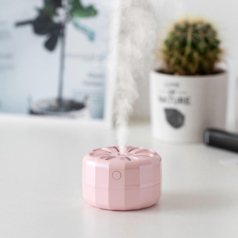 New Car Portable Folding Humidifier Mini Ultrasonic Pulling Air Humidifier LED Night Light USB Aromatherapy Fogger Humidifiers
