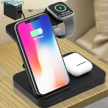 Wireless Charger 5 in 1 Stand for Apple iWatch Aripods Pro/2 Galaxy Watch Gear Qi 15W Fast Charging For iPhone 11 XS Samsung S10