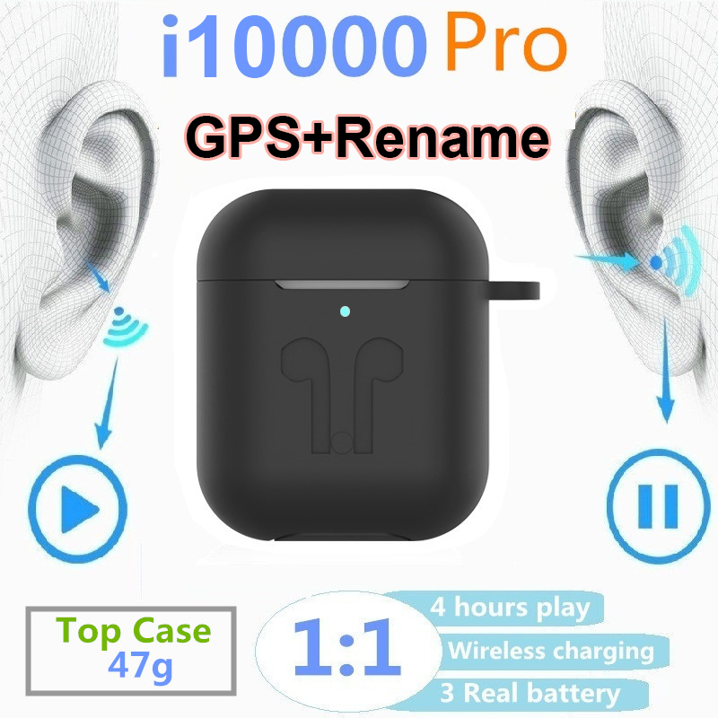 Oirginal i10000 Pro <font><b>tws</b></font> 1:1 GPS + Rename detection <font><b>Smart</b></font> <font><b>Sensor</b></font> Pop Up Bluetooth Earphones pk i80 i200 i500 i1000 i9000 pro <font><b>tws</b></font> image