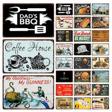 HUAZI Tin Signs Coffee Vintage Poster Plaque Metal Eat &Drink Sign Wall Art Decor For Restaurant Home Cafe Bar Pub Iron Painting