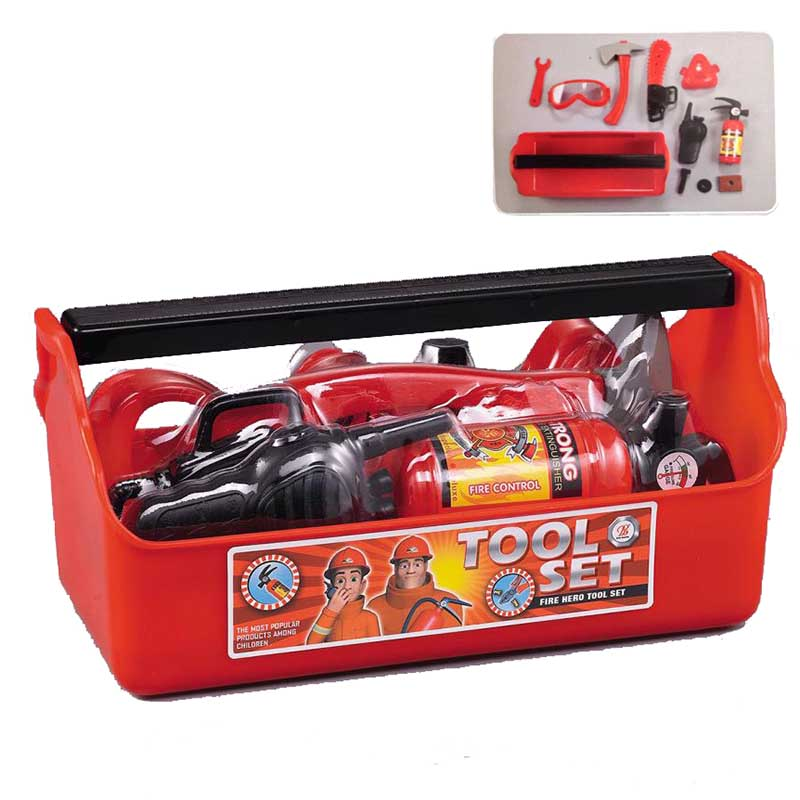 Fireman Sam Portable toolboxChildren's outdoor play house set Toys Baby DIY scene Tools Fire fighter Cartoon Kids Boys Girl gift