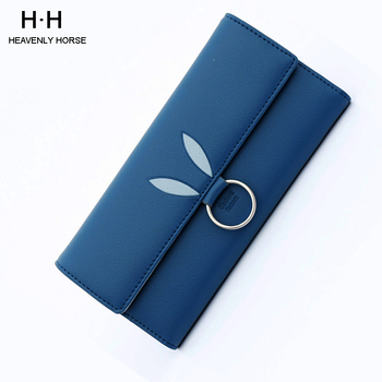 Women Wallet Tri-fold Long Multi-card Position Simple OL PU Wallet Fashion Clutch Bag Short Ladies Wallet
