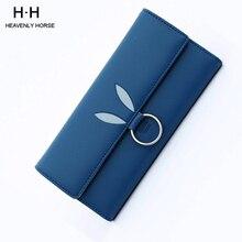 Women Wallet Tri-fold Long Multi-card Position Simple OL PU Wallet