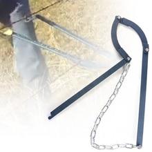Сверхмощная фиксация домашнего сада Натяжное ограждение ручной работы Тяговая ферма цепь Портативный Открытый провод забор инструмент для ремонта металла