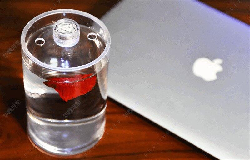 Desktop Betta Fish Tank Mini Live Fighting Fish Tank Office Desktop Diy Small Micro Landscape HD Glass