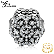 Jewelrypalace 925 Sterling Silver Openwork Flower Beads Charms Fit Bracelets Gifts For Women Anniversary Gifts Fashion Jewelry недорого