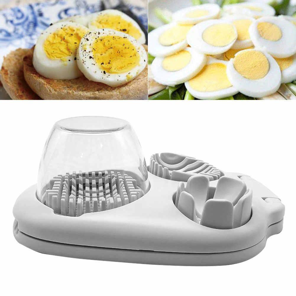Cortador de huevos 3 en 1 cortador de acero inoxidable aguacates para el hogar práctico cortador de cuñas herramienta de cocina Manual multifuncional