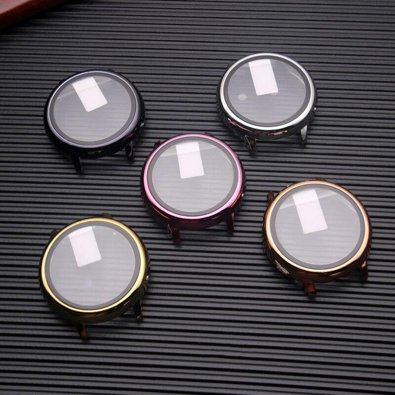 Чехол для защиты экрана для Samsung galaxy watch active 2 40/44 мм, всесторонний бампер + стекло для Galaxy watch active 2 40 мм 44 мм