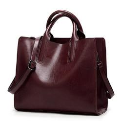 ValenKuci Leather Handbag Big Women Bag High Quality Casual Female Bag Trunk Tote Spanish Brand Shoulder Bag Ladies Large Bolsos