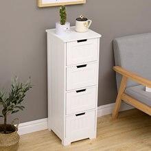 IKayaa-armario organizador de baño, mueble de baño para el hogar, armario de madera, estante de almacenamiento de cosméticos, cajones