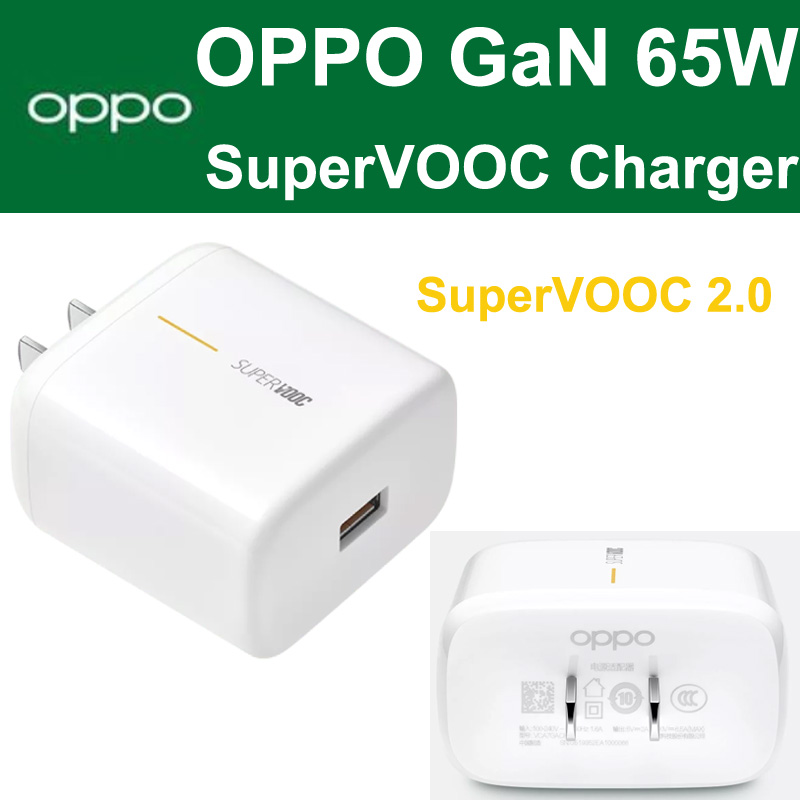 Original OPPO 65W SuperVOOC Power Adapter GaN Charger  OPPO Find X2 Pro Reno Ace2 Reno 3 Pro 2z 2f 10x Zoom Find X A5 A9 2020