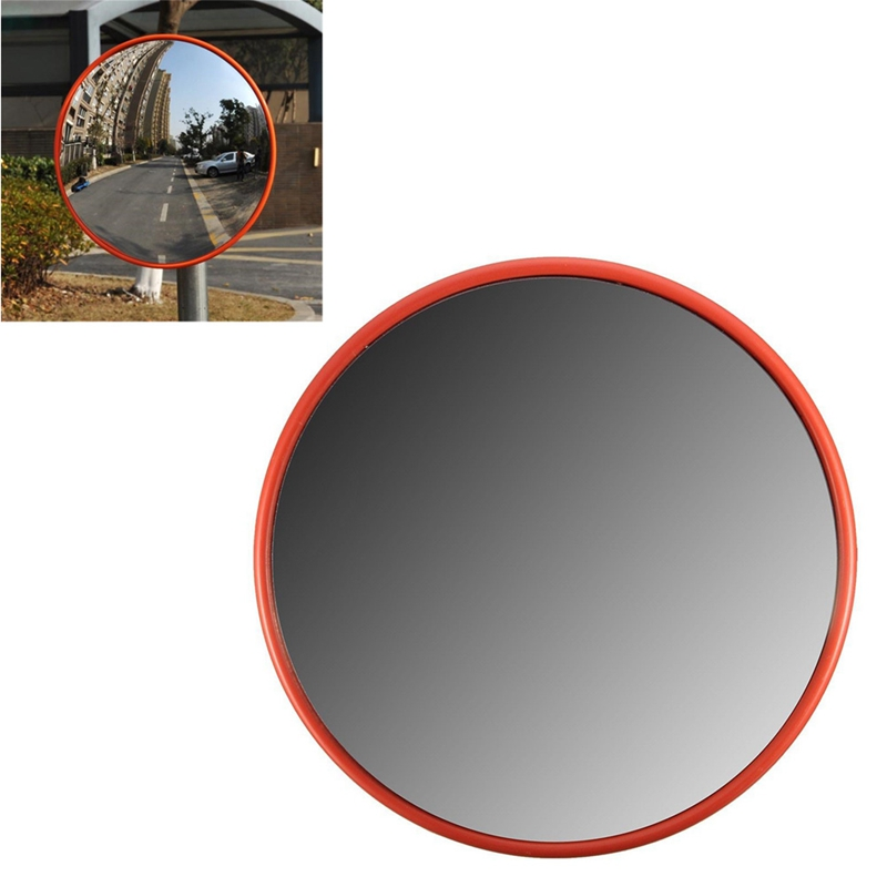 30Cm Wide Angle Security Road Mirror Curved For Indoor Burglar Outdoor Safurance Roadway Safety Traffic Signal Convex Mirror(Ora